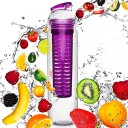 Do Your Fitness FruitBottle BPA FREE sporta ūdens pudele ar kapsulu Rozā, 800ml