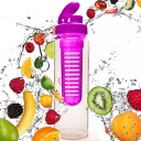 Do Your Fitness FruitExplosion BPA FREE sporta ūdens pudele ar kapsulu Rozā, 700ml