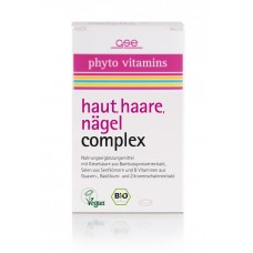GSE Vertrieb Phyto Vitamins BIO komplekss ādai, matiem, nagiem, uztura bagātinātājs, 60 tabl.