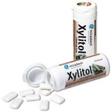 Miradent Xylitol kanēļa košļājamā gumija ar ksilitolu, 30gb