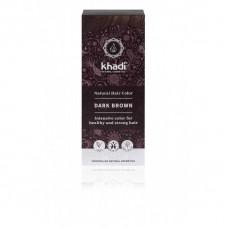 """Khadi augu izcelsmes matu krāsa """"Dark Brown"""", 100g"""
