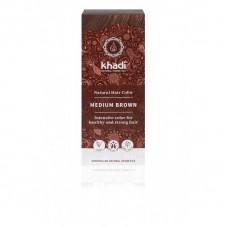 "Khadi augu izcelsmes matu krāsa ""Medium Brown"", 100g"