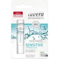 Lavera Basis Sensitiv lūpu balzams ar organisko hohobas elļu un mandeļu eļļu, 4.5g
