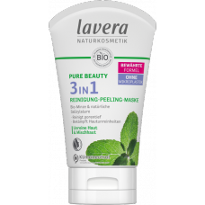 Lavera Pure Beauty attīrošs līdzeklis, skrubis un maska 3in1, 125ml