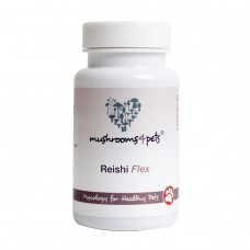 Myconutri Mushrooms4Pets ārstniecisko sēņu maisījums mājdzīvniekiem Reishi (reiši) Flex, 60 kaps.