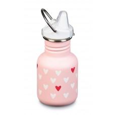 Klean Kanteen Kid Classic tērauda ūdens pudele bērniem no 6 mēnešu vecuma Millennial Hearth, 355ml