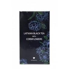 3x9 Zālītes BIO Latvijas melnā tēja (ugunspuķe) ar rudzupuķēm, 40g