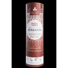 """Ben&Anna sausais sodas dezodorants / zīmulis kartona iepakojumā """"Ziemeļu mežs"""", 60g"""