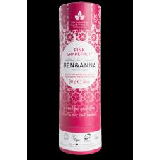 """Ben&Anna sausais sodas dezodorants / zīmulis kartona iepakojumā """"Rozā Greipfrūts"""", 60g"""