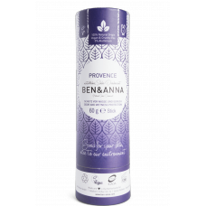 """Ben&Anna sausais sodas dezodorants / zīmulis kartona iepakojumā """"Provansa"""", 60g"""