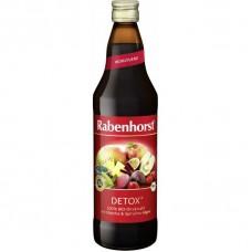 """Rabenhorst BIO multiaugļu / biešu sula ar mačas tēju un spirulīnu """"Detox"""", 750ml"""