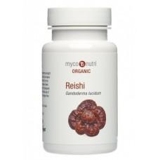 Myconutri BIO Reishi Organic - reiši sēnes (Ganoderma lucidum) ekstraktu maisījums, 60 kaps.