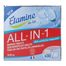 """Etamine du Lys tabletes trauku mazgājamai mašīnai """"Viss vienā"""", 30gb"""