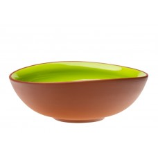 Vaidava Ceramics kolekcija Zeme bļoda zaļa izliekta, 240x90mm, 2l