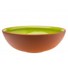 Vaidava Ceramics kolekcija Zeme bļoda zaļa, 300x100mm, 3l