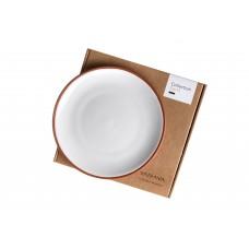 Vaidava Ceramics kolekcija Zeme šķīvis balts, vidējais 220x25mm