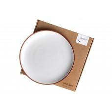 Vaidava Ceramics kolekcija Zeme šķīvis balts, lielais 265x25mm