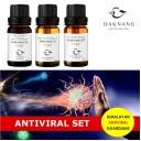 Daknang Antiviral uztura bagātinātāju komplekts imunitātes stiprināšanai un alerģiju mazināšanai, 3 x 10ml