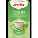 Yogi Tea BIO baltā tēja ar alveju, 17pac./30,6g